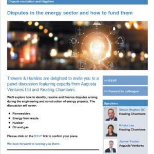 Photo of Disputes in the Energy Sector and How to Fund Them
